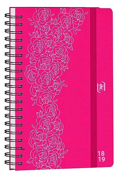 Oxford So Chic agenda escolar (años 2017 – 2018 1 día por página 352 páginas 12 x 18 cm rosa rosetón