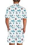 af3f5b0a9ca Male Romper Original Men s Romper Jumpsuit Costume 3D Graphic Milk  Personalized Short Sleeve Playsuit Overalls One Piece Slim Fit Surfing XXL