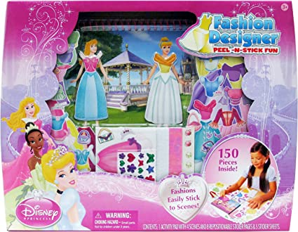 Amazon Com Tara Toy Princess Fashion Designer Peel And Stick Toys Games