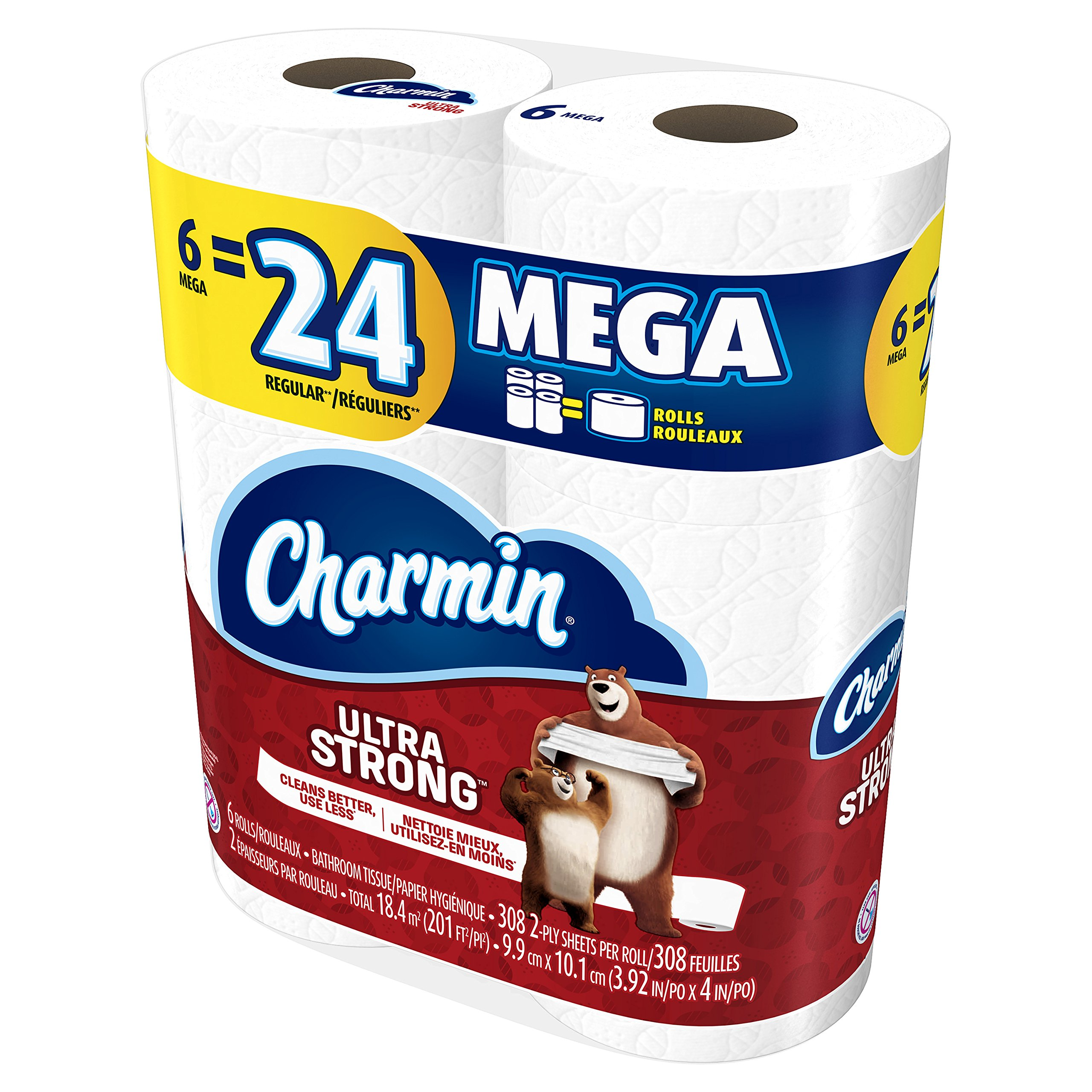 Galleon Charmin Ultra Strong Toilet Paper Mega Roll 24