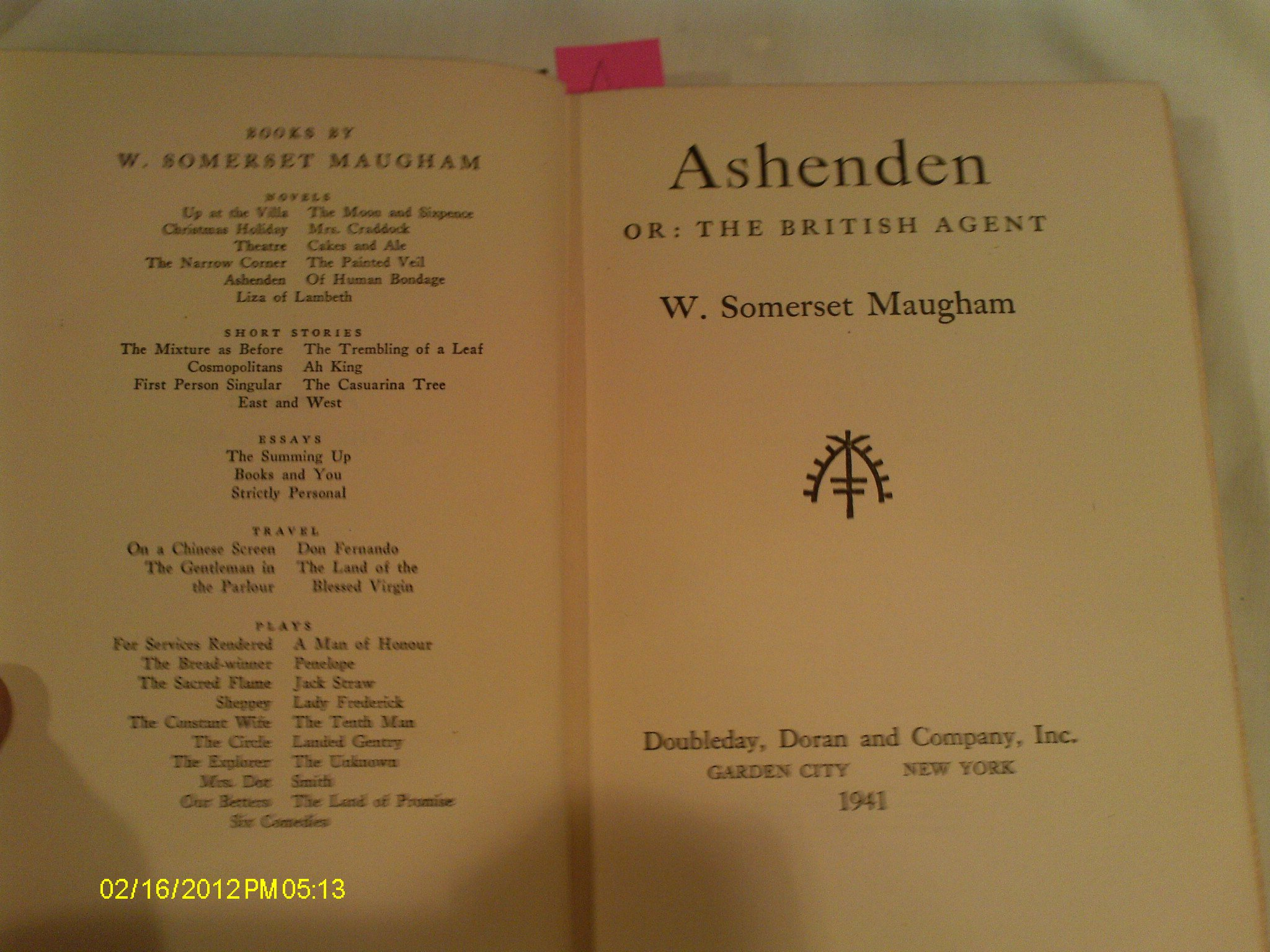 Ashenden or: the British Agent: W. Somerset Maugham: Amazon.com: Books