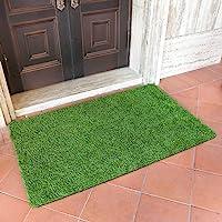 MAYSHINE Artificial Grass Door Mat Indoor/Outdoor Rug Green Turf Perfect for Multi-Purpose Home Entryway Scraper Doormat…