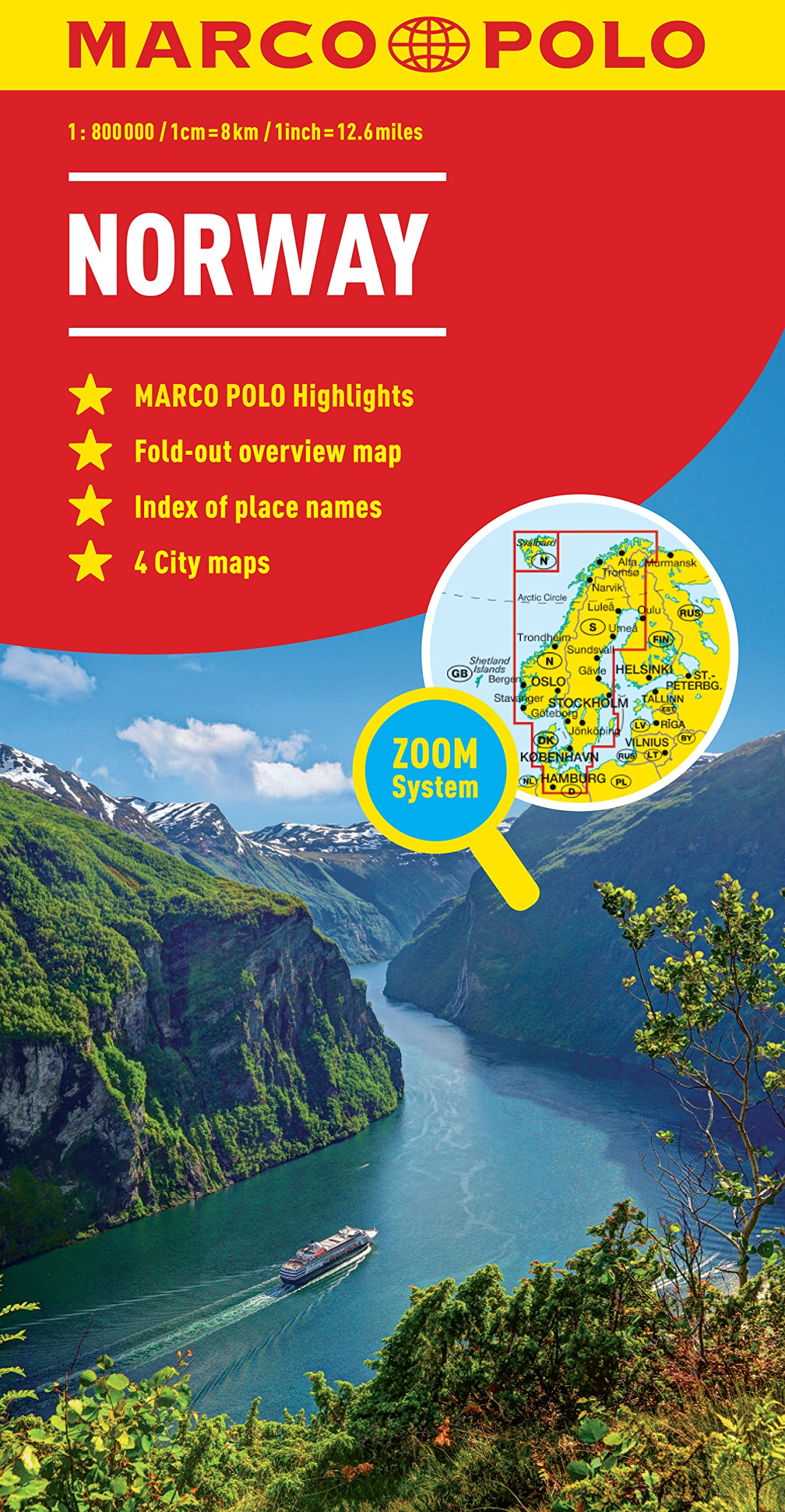Norway Marco Polo Map Marco Polo Maps Marco Polo Travel - Michelin norway map 752