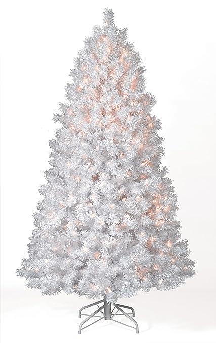 treetopia winter white artificial christmas tree 8 feet unlit