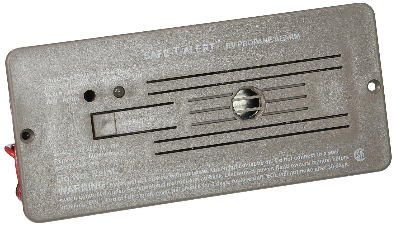 Marine Technologies Mti Industries 30 442 P Br Safe T Bl Wh Wiring Diagram 3 Alert Series Propane Lp Gas Alarm Flush Mount Brown Automotive