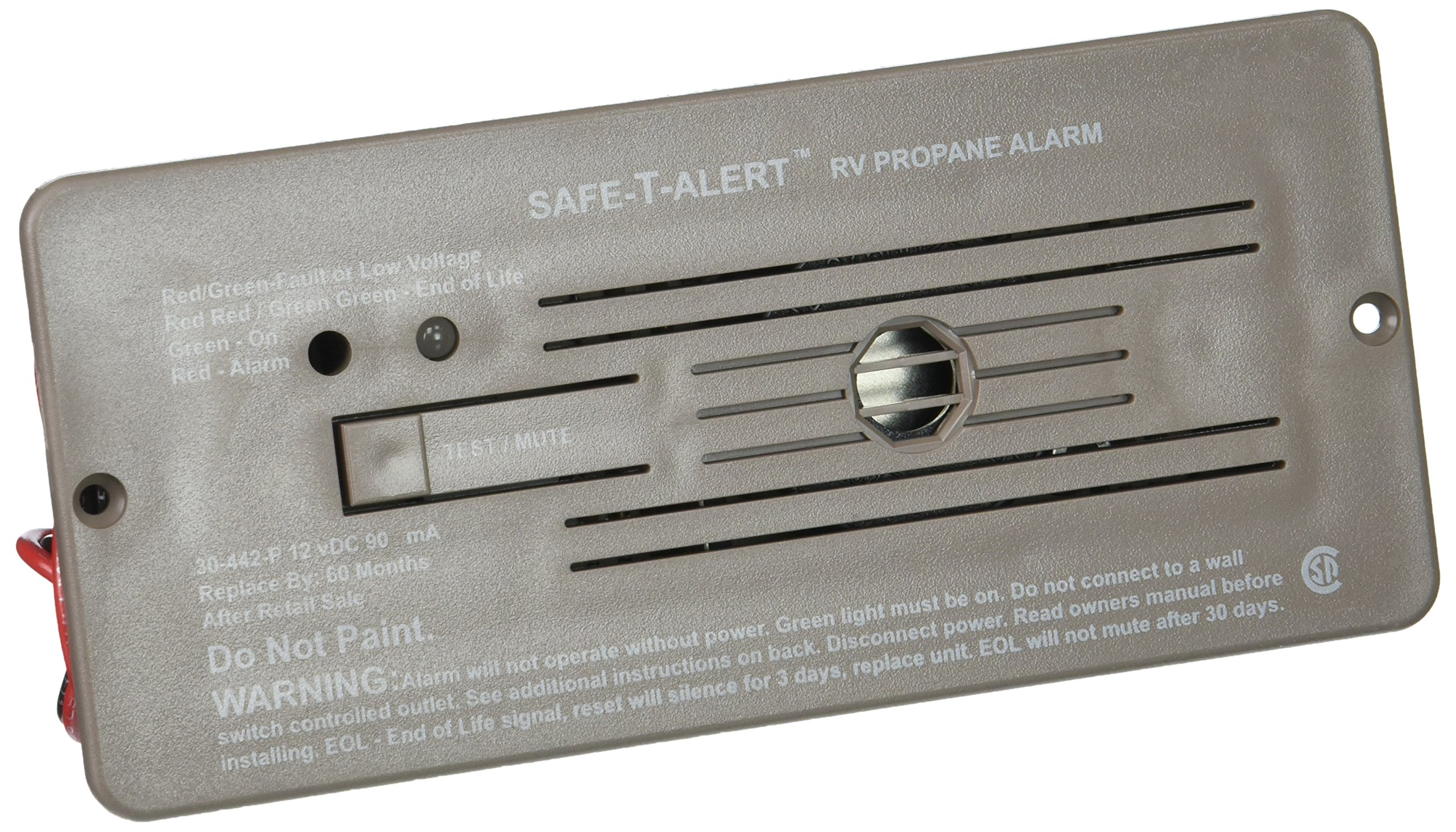 MTI Industries 30-442-P-BR Safe T Alert 30 Series Propane/LP Gas Alarm - Flush Mount, Brown by MTI