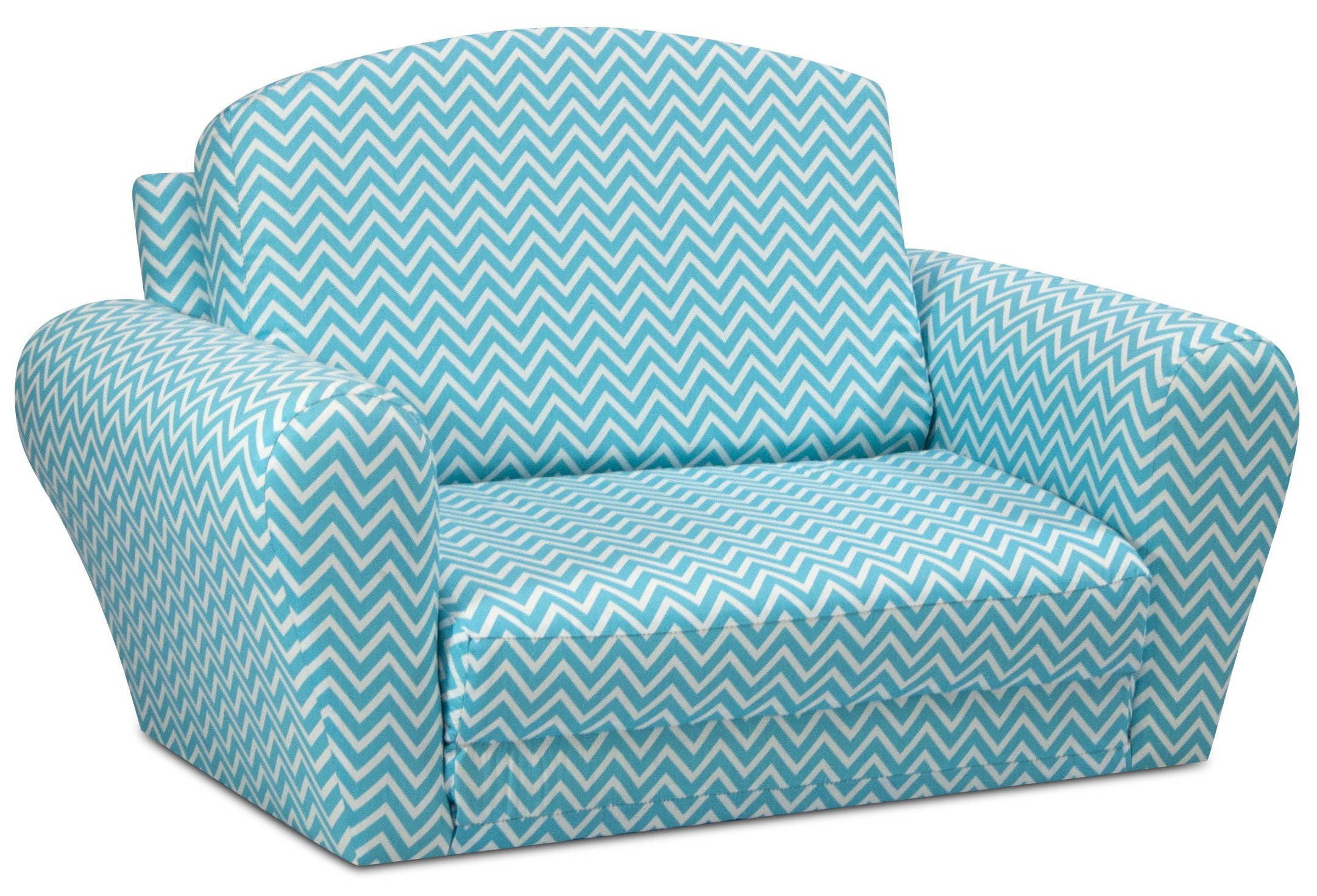 Kids Convertible Sleepover Chair Bed - Flip Out Lounger for Slumber Parties, Gaming, Chilling - Fun Childrens Furniture That Easily Converts To a Folding Cot - 2 Fabric Choices