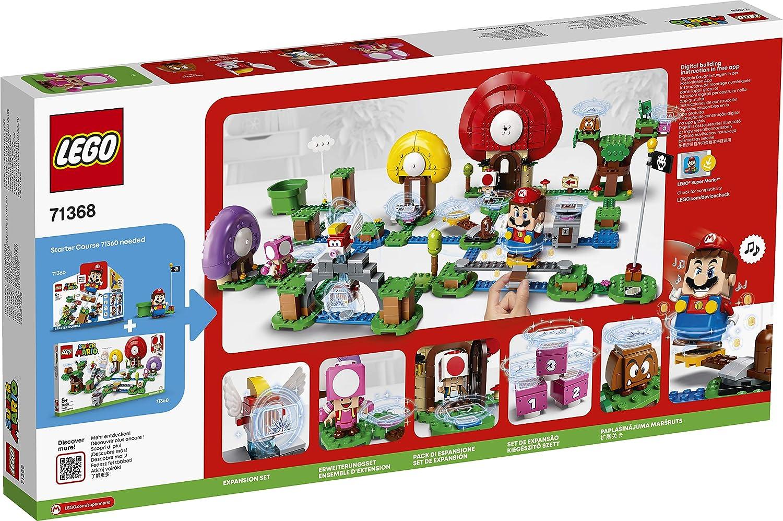 LEGO/71368/Super Mario Jeu de construction Ensemble dextension La chasse au tr/ésor de Toad