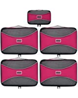 PRO Packing Cubes   5 Piece   Organizers & Space Saver   Travel Cube Value Set