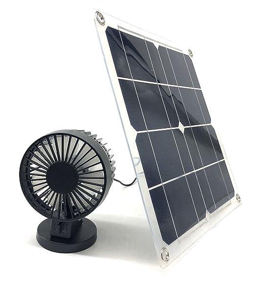 Ventilador Solar de 10 W con 2 velocidades para Coche, Barco ...