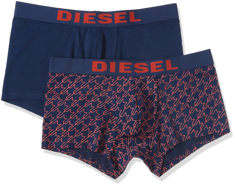 Diesel 2-Pack Shawn Stars Men's Boxer Trunks, Navy/Red