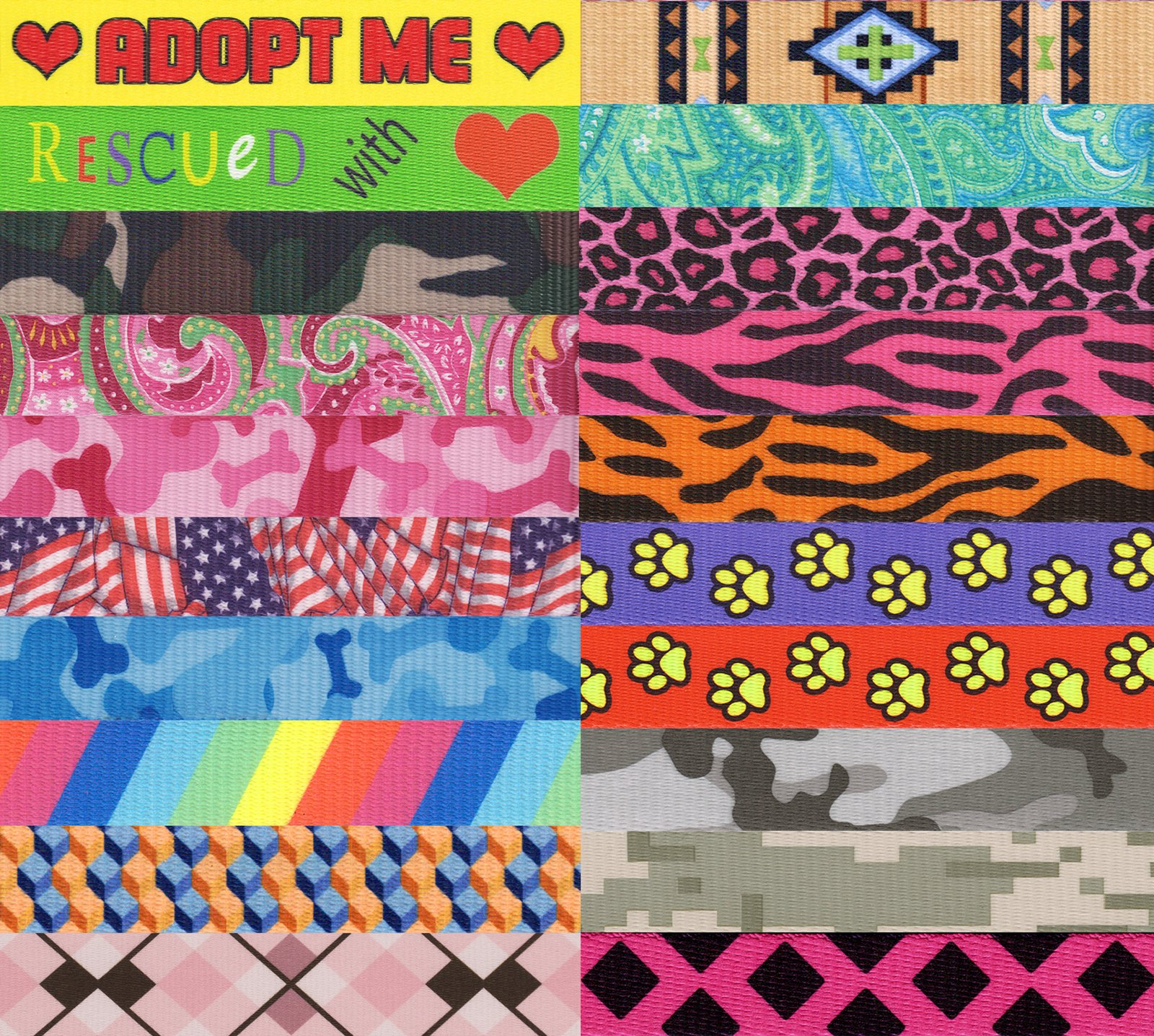 10 - Country Brook Design Assorted Martingale Dog Collars - Extra Small