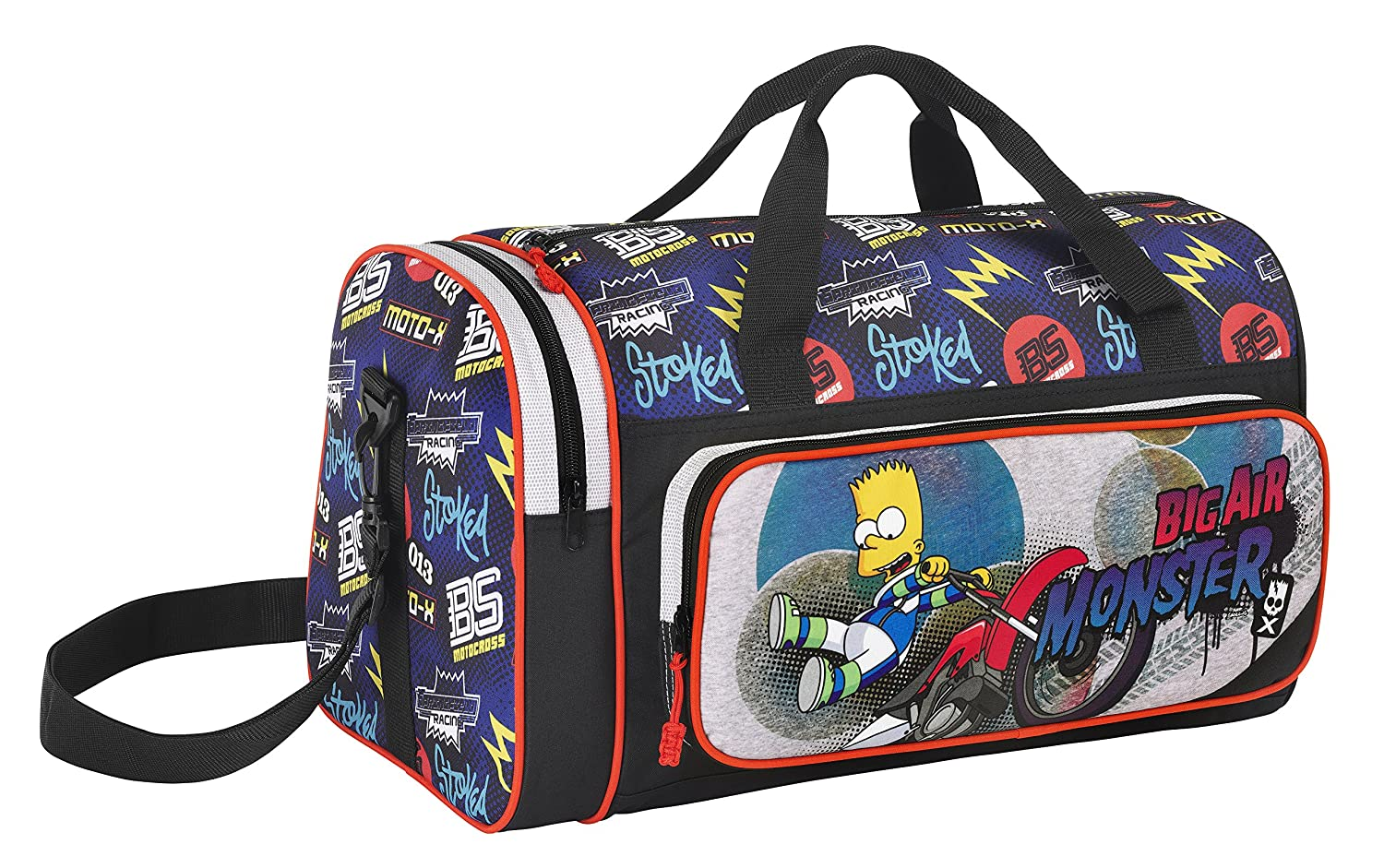 The Simpsons - Bolsa de deporte/viaje, 47 x 26 x 27 cm (Safta 711505023)https://amzn.to/2TEWZVQ