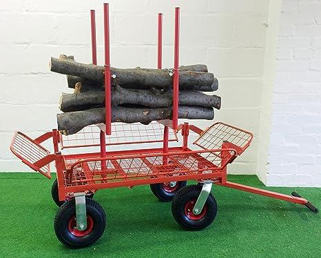 Heavy Duty Tala carro carretilla de jardín todos terain portátil sierra caballo plataforma