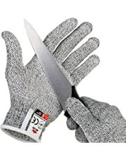 NoCry Cut Resistant Gloves with Secure-Grip Microdots and Level 5 Cut Protection. Comfort-Fit. Food Grade. Includes Free eCookbook!