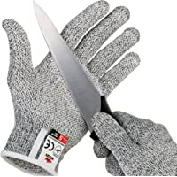 NoCry Cut Resistant Gloves with Secure-Grip Microdots and Level 5 Cut Protection. Comfort-Fit. Food Grade, Size Small…