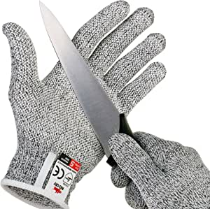 Nocry Cut Resistant Gloves With Grip Dots High Performance Level 5 Protection Food Grade Size Extra Large Free Ebook Included Amazon Com