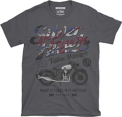 color negro dise/ño de motociclista 6TN Camiseta para hombre