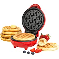 Giles & Posner EK4214G Non-Stick Mini Waffle Maker   550 W   Power and Ready Indicator Light   Compact Design   Red