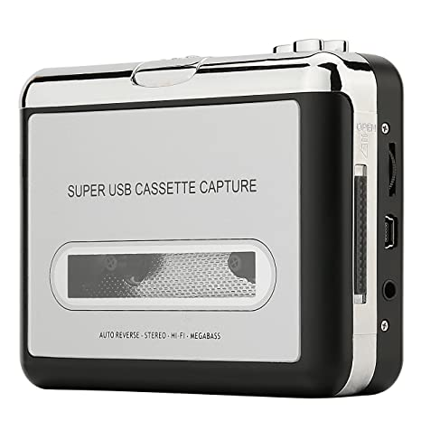 Reshow Cassette Player – Portable Tape Player Captures MP3 Audio Music via  USB – Compatible with Laptops and Personal Computers – Convert Walkman Tape