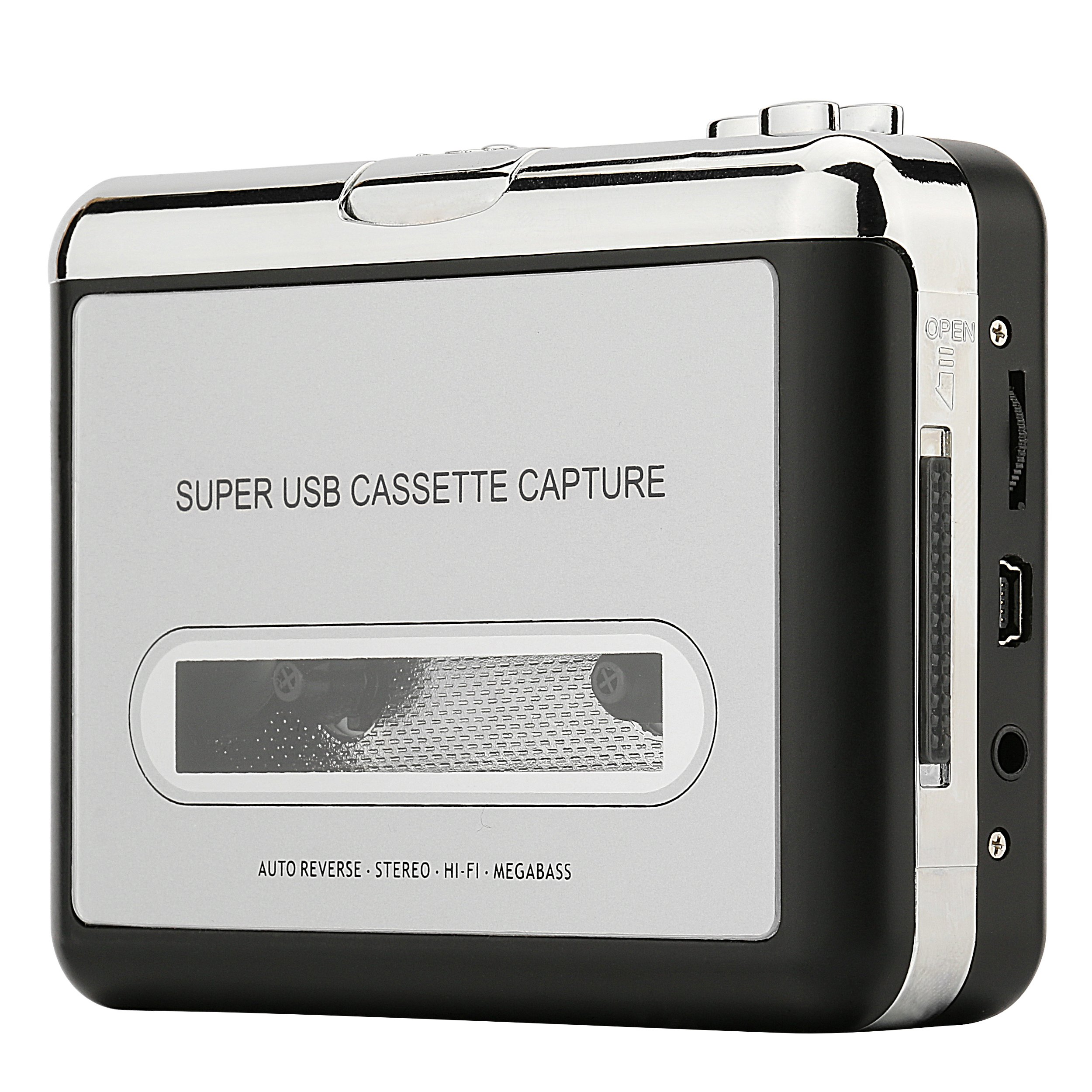 Cassette Player – Portable Tape Player Captures MP3 Audio Music via USB – Compatible with Laptops and Personal Computers – Convert Walkman Tape Cassettes to iPod Format
