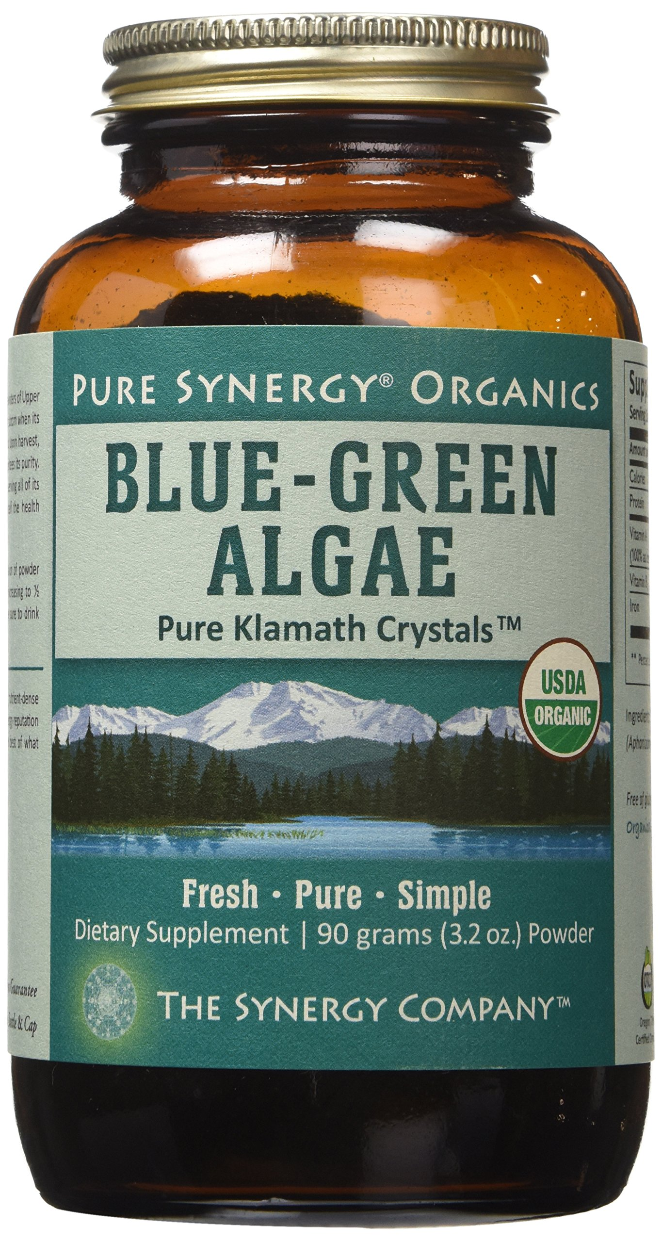 Pure Synergy USDA Organic Klamath Blue Green Algae Powder (3.2 oz) Fully Tested, Non-GMO by Pure Synergy (Image #2)