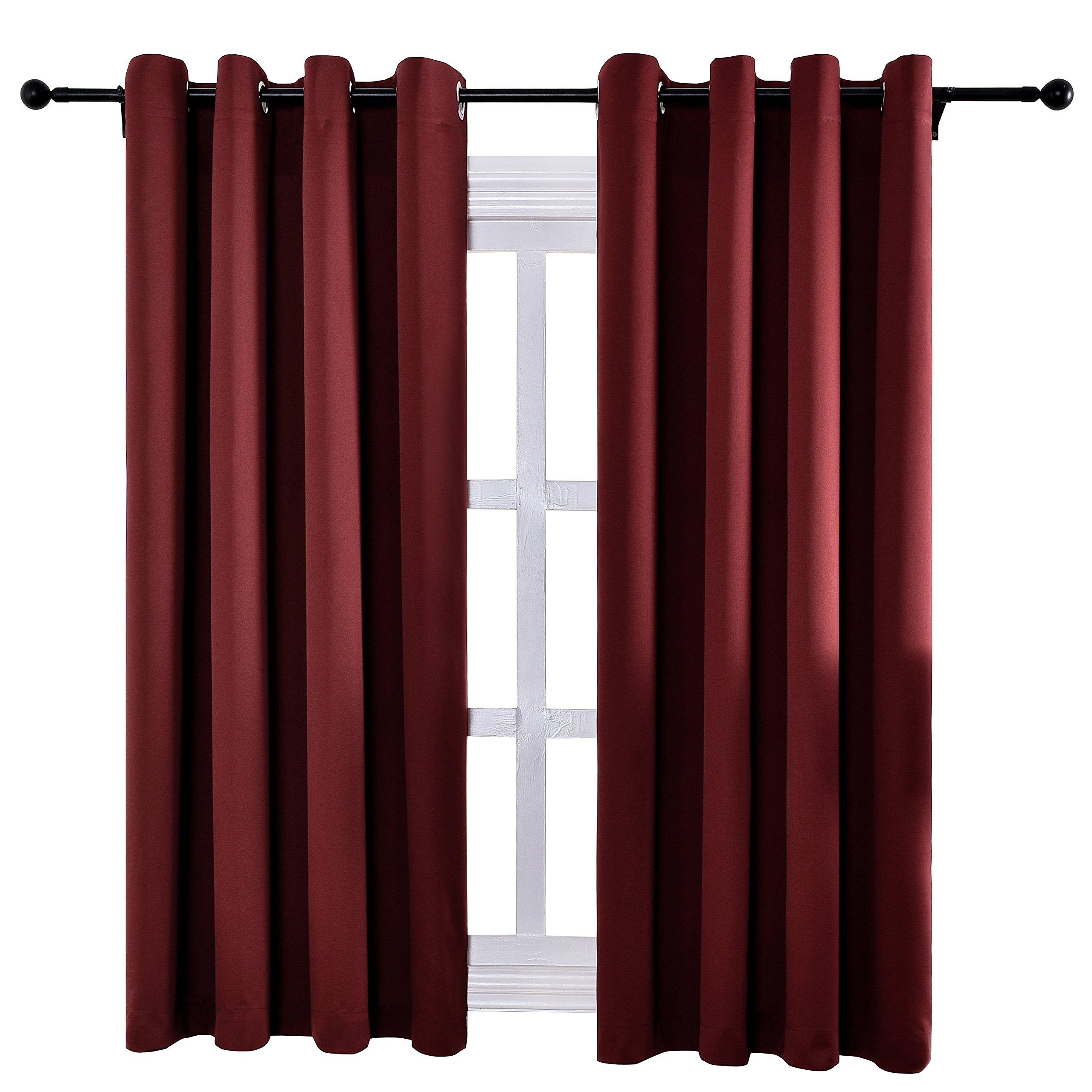 Keqiaosuocai Room Darkening Blackout Curtains Flame