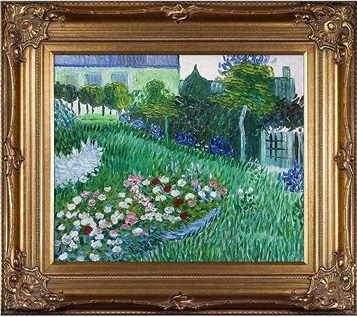 overstockArt Van Gogh el jardín de Daubigny Lienzo, Renacimiento Bronce Marco/Acabado: Amazon.es: Hogar