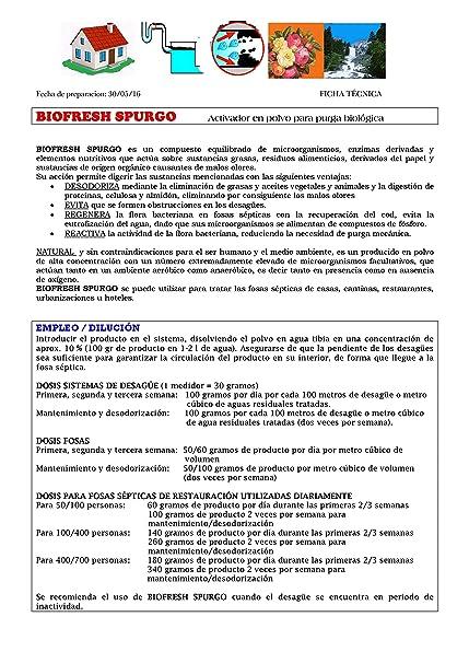 BIOFRESH SPURGO Activador para purga biológica kg.3