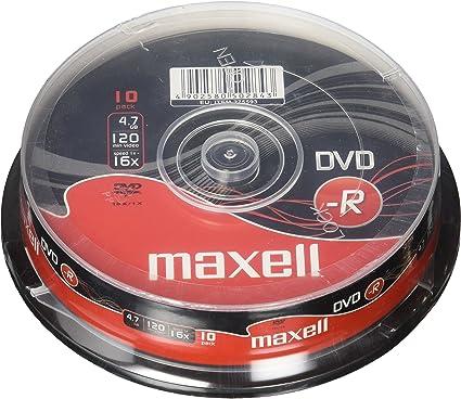 Maxell M168 - Pack de 10 DVD-R, 16x, 4.7 GB: Amazon.es: Electrónica