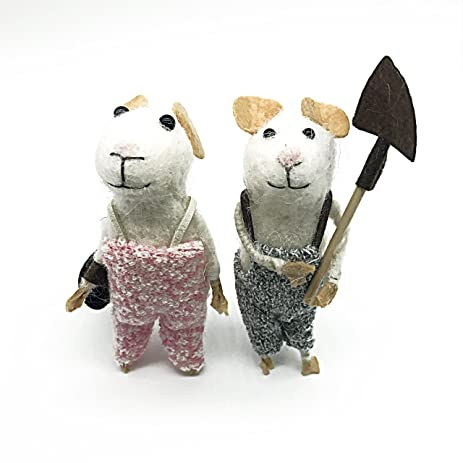 yotruth handmade felt animal toys for christmas decorating and gifts lovely felt mouse couple for - Christmas Mouse Decorations