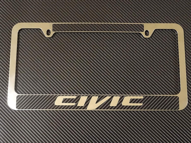 Honda Civic Chrome Plated Metal License Plate Frame Holder