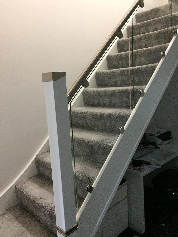 Pasamanos acero y cristal balaustrada de escalera ((45 grados): Amazon.es: Bricolaje y herramientas