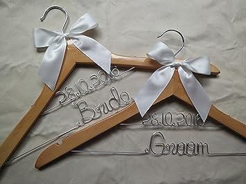 Set von 2 Personalisierte Hange, Custom Hochzeit Kleiderbügel ...