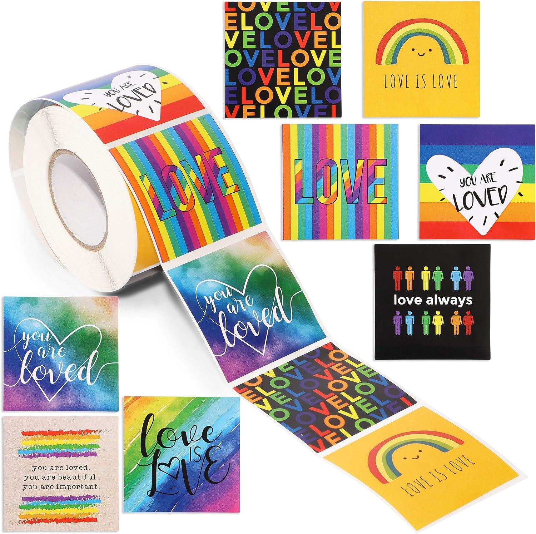 Love is Love Rainbow Pride Sticker Decals (500 Pack)