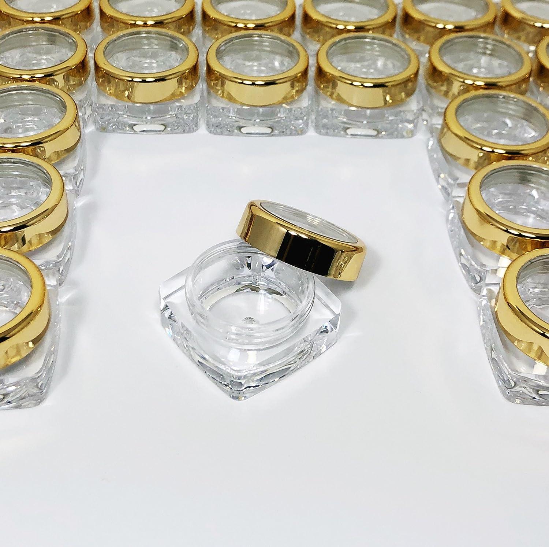 face30b1460d Amazon.com : BMS Cosmetic Jars 10 Gram Plastic Square Beauty ...