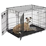"Dog Crate | MidWest iCrate 36"" Double Door Folding Metal Dog Crate 