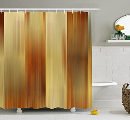 Earth Tones Shower Curtain By Ambesonne, Abstract Modern Design With Ombre  Inspired Smooth Color Transitions