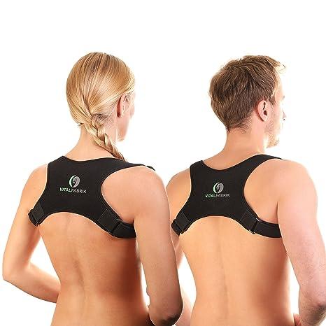 VITALFABRIK Haltungskorrektur für eine aufrechteren Haltung - Professioneller Geradehalter und Rückenbandage mit maximalem Tr