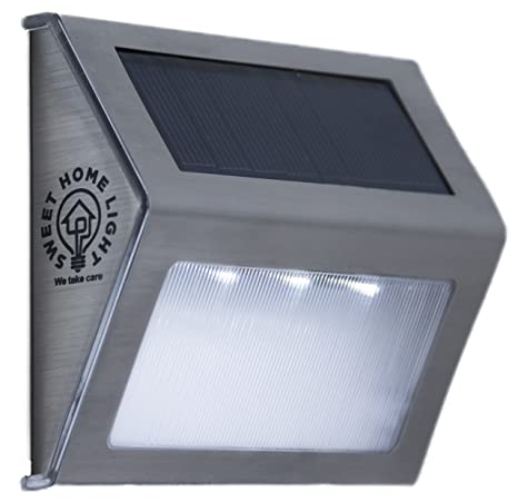 Attractive Solar Step Lights Outdoor Waterproof With 3 LEDs, Wireless Stainless Steel  Solar Stair Lights