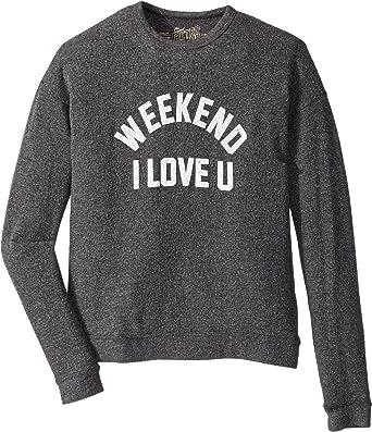 f018ea968a6 The Original Retro Brand Kids Girl s Weekend I Love You Super Soft Haaci  Pullover (Big