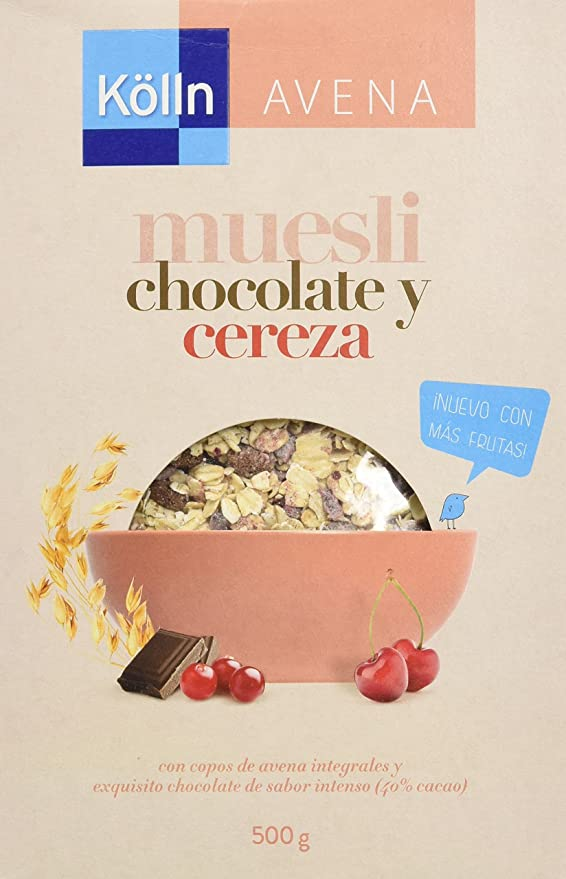 Kölln Mueslis de Avena con Chocolate y Cerezas - 500 gr