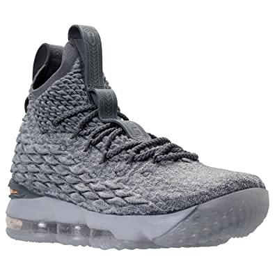 Nike LeBron 15 NBA Shoes Wolf Grey White Black GoldShoes_a1000