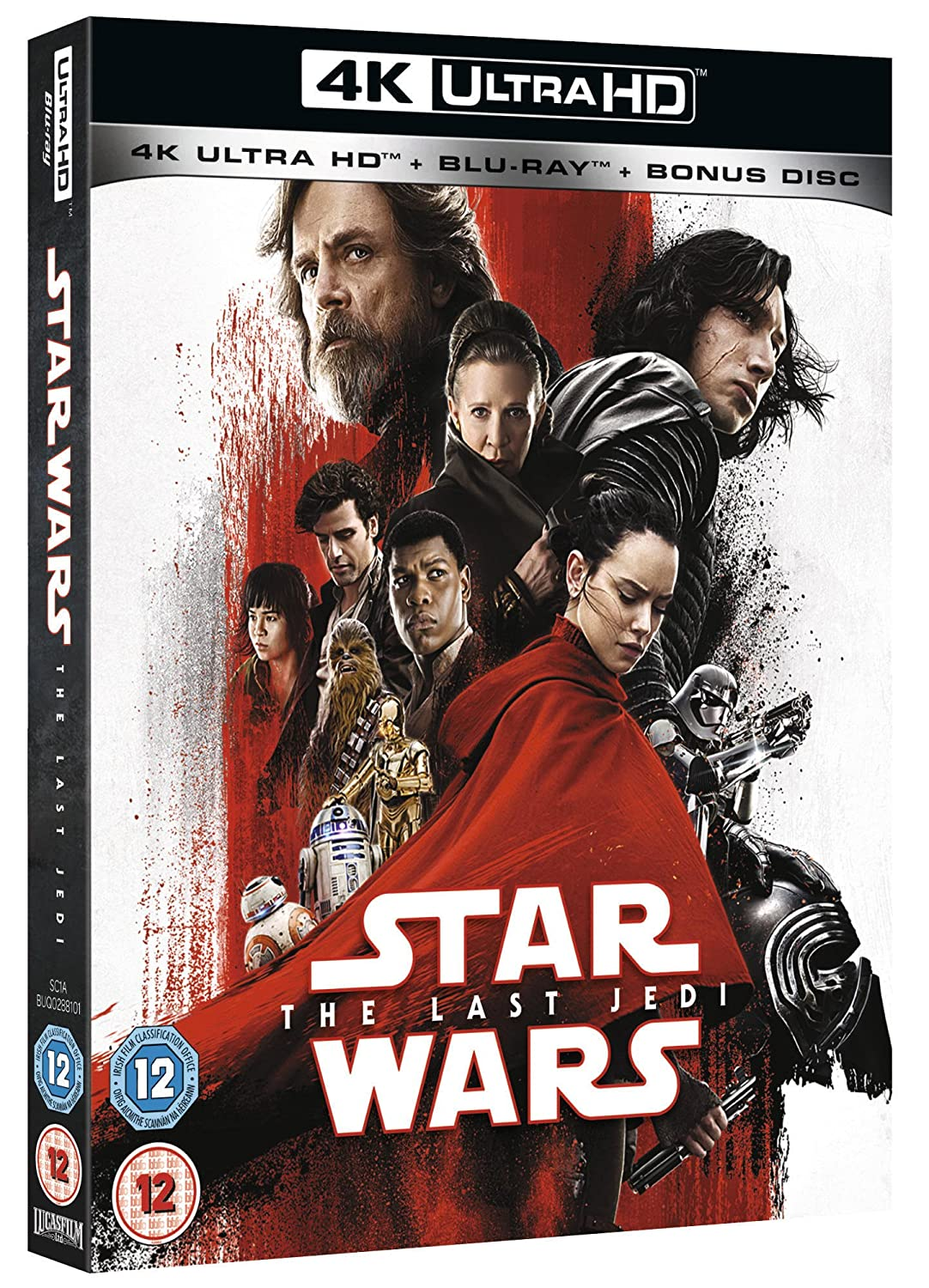 Amazon com: Star Wars: The Last Jedi [4K UHD] [Blu-ray] [2017