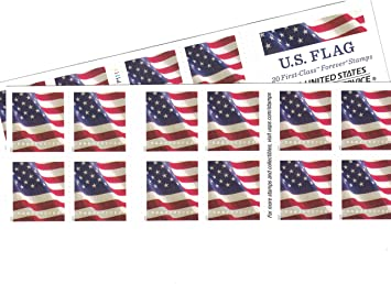 Usps Christmas Stamps 2019.Usps Us Flag Forever Stamps 40 Us Flag Forever Stamps 40 Stamps Two Books Of 20 Packaging May Vary Blue Red White