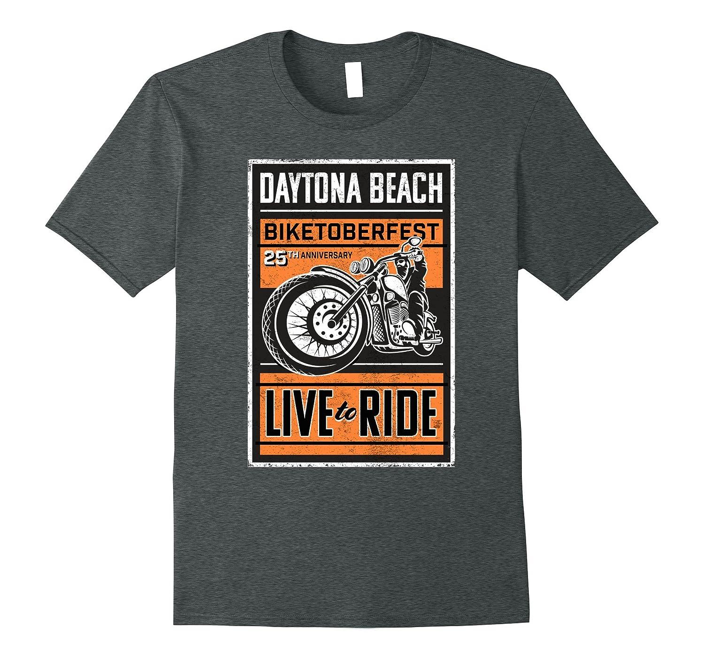 Biker T Shirt Daytona Beach Motorcycle Festival Men Women-TJ