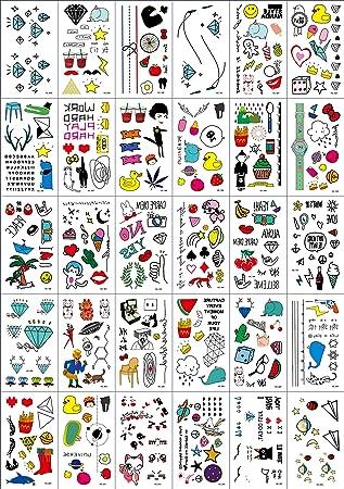 (30 Hojas) Tatuajes Temporales para Niños, Tatuajes de Linaza Pegatinas para niños Fiesta de Tatuaje Falso a Mano, más de 300 Diseños: Amazon.es: Belleza