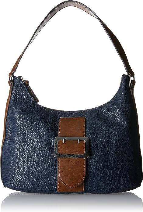 Tamaris Alberta Hobo Bag L Schultertasche Tasche Navy Comb Blau