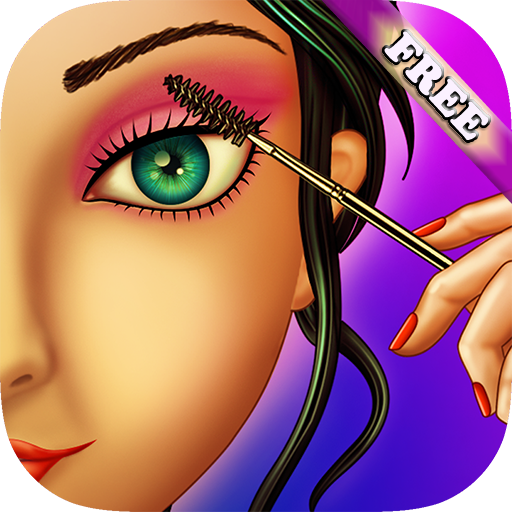 [Eye Makeup Beauty Salon for Girls : makeover game for girl and kids ! Educational make up games -] (Fun Dress Up Games For Adults)