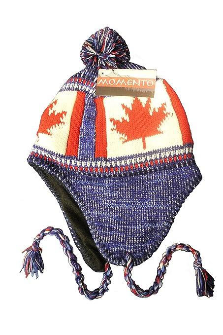 d44e45213 Amazon.com: Canada Country Flag Blue Chullo Hat With Pom Pom..For ...
